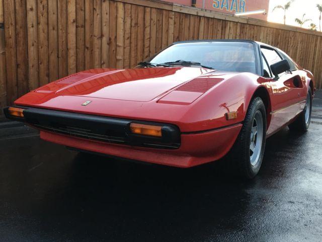 1981 Ferrari 308 GTSi Targa 19258 Miles Red Coupe 8 Cylinder