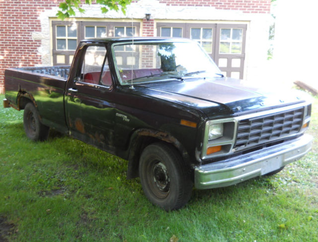 1981 ford pickup truck f100 2wd custom 6 cylinder hd 4speed manual transmission for sale photos. Black Bedroom Furniture Sets. Home Design Ideas