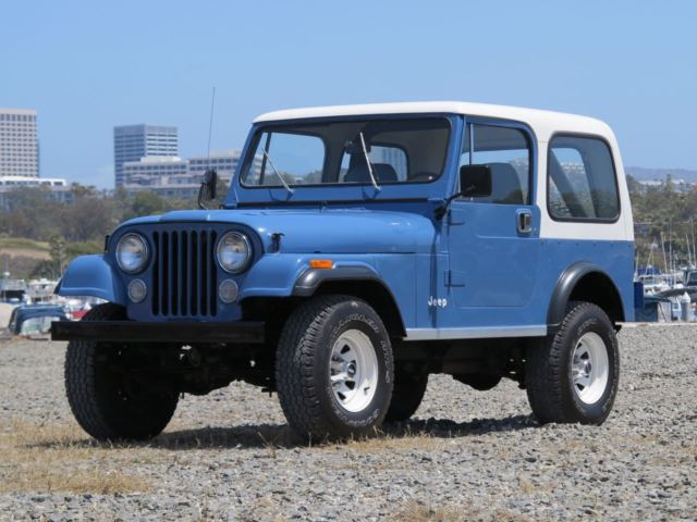 1981 jeep cj 7 montana blue one california owner. Black Bedroom Furniture Sets. Home Design Ideas