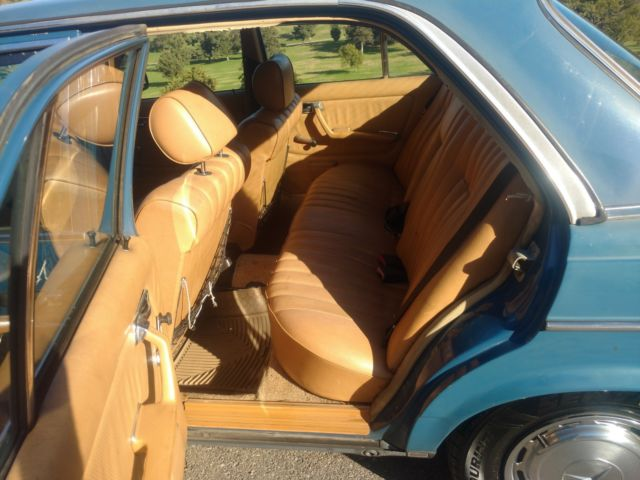 1981 Blue Mercedes-Benz 200-Series with Tan interior