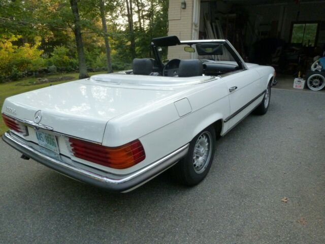1981 White Mercedes-Benz SL-Class Convertible with Black interior