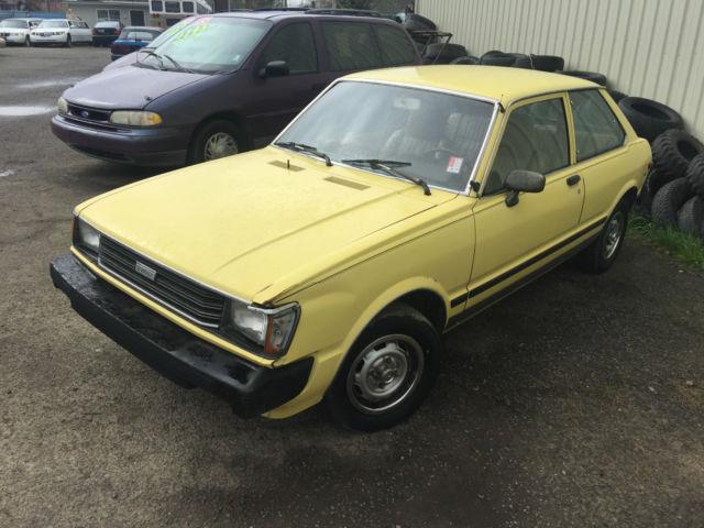 Toyota Tercel Dlx Hatchback Door L Low Miles Only K Runs Drives on 1980 Toyota Tercel Engine
