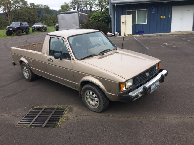 1981 volkswagen rabbit caddy very straight diesel pickup for sale photos technical. Black Bedroom Furniture Sets. Home Design Ideas