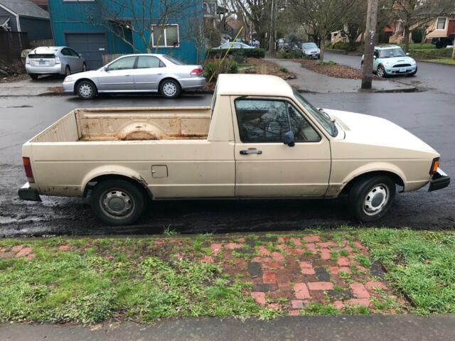 1981 Volkswagen Rabbit Pickup Caddy Truck Newer 1 9l Vw