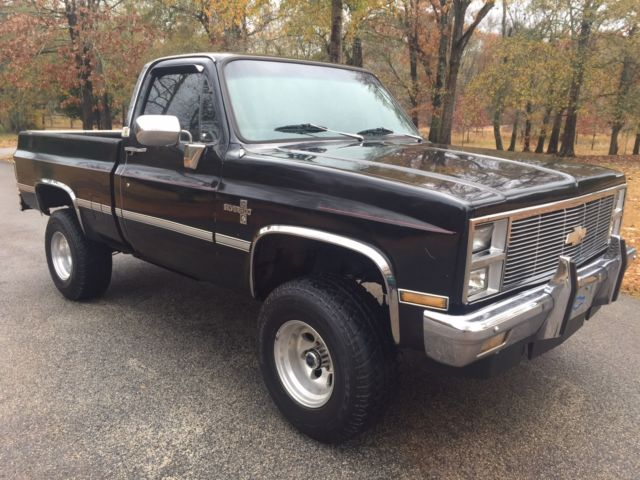 1982 chevrolet k10 4x4 pickup truck short bed square body c10 4wd for sale photos technical. Black Bedroom Furniture Sets. Home Design Ideas