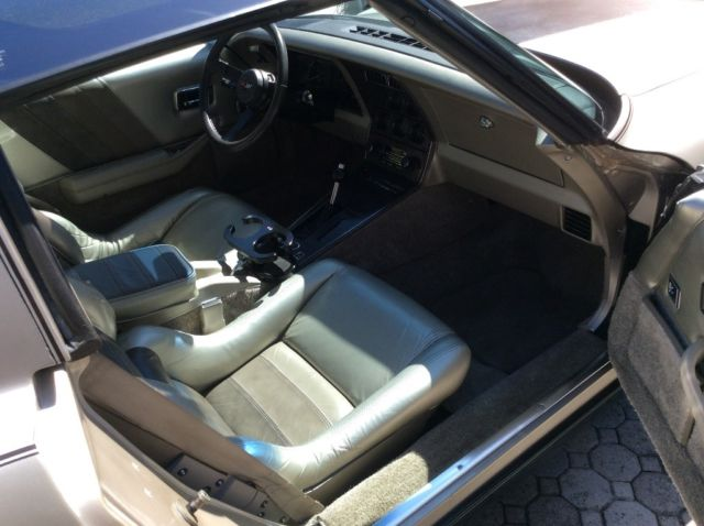 1982 Champagne Chevrolet Corvette Collectors Edition Coupe with Champagne/Bronze interior