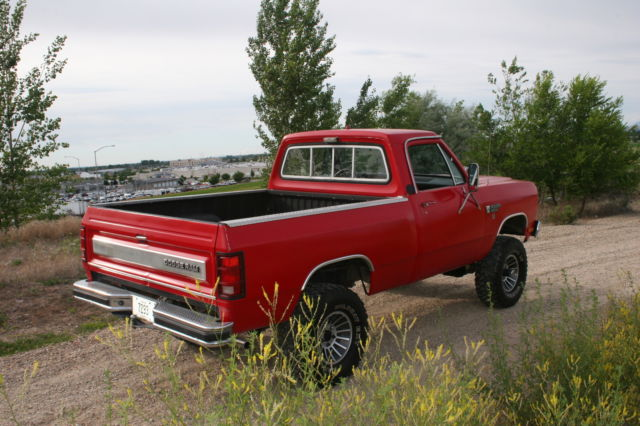 1982 dodge ram 1500 4x4 shortbox low miles for sale photos technical
