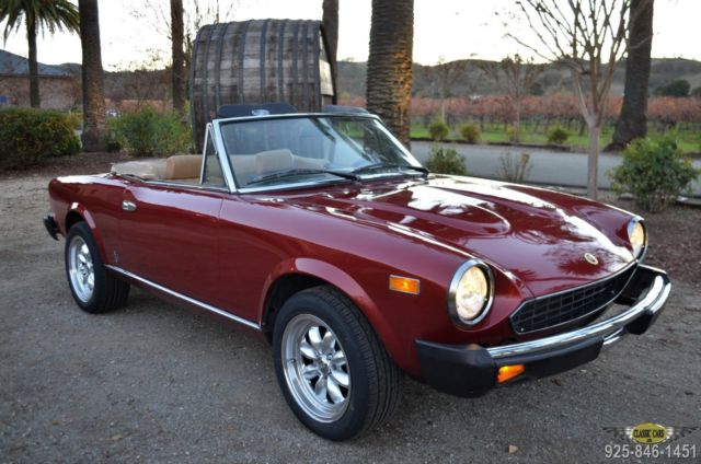 1982 Fiat 124 Spider 2000 RESTORED CA. LOW MI.