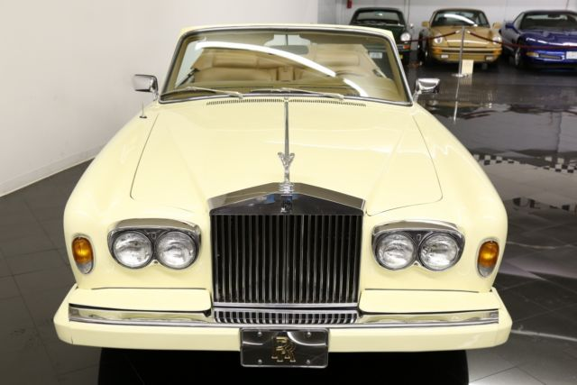 1982 Ivory IV Rolls-Royce Corniche Convertible with Tan Leather interior
