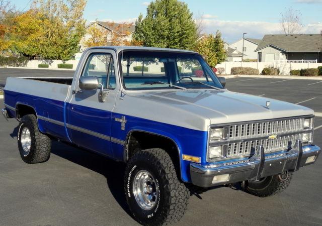1982 Silverado K10 4x4 6 2 Diesel Rare 51k Original Miles