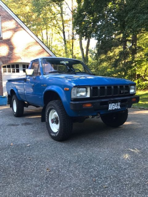 1982 toyota 4x4 hilux pickup truck with camper top a. Black Bedroom Furniture Sets. Home Design Ideas