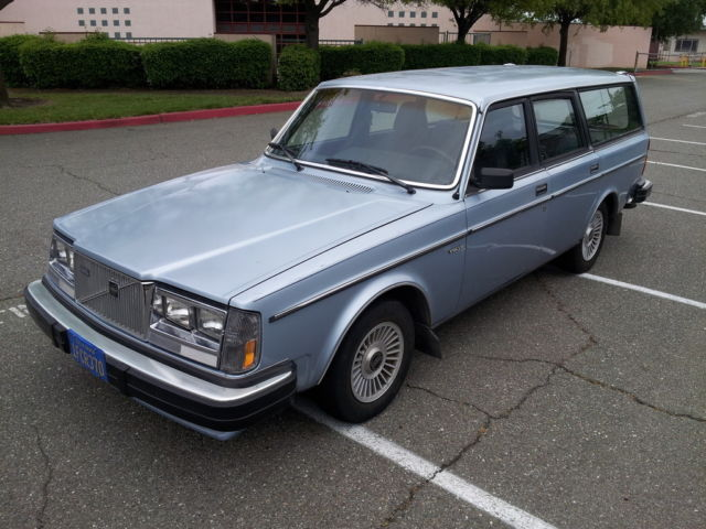 1982 volvo 240 diesel wagon low miles 136k nice blue velour interior well kept for sale. Black Bedroom Furniture Sets. Home Design Ideas