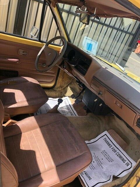 1982 Yellow Volkswagen Other Standard Cab Pickup with Tan interior
