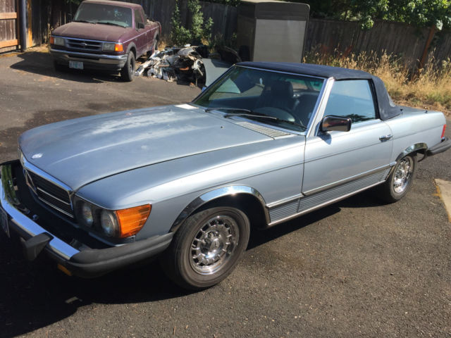 1983 Blue Mercedes-Benz 300-Series Convertible with Blue interior