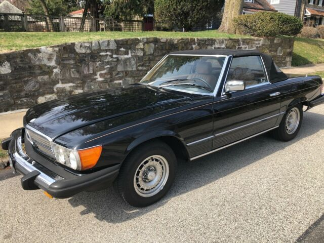 1983 380SL, Stunning in Black and Tan