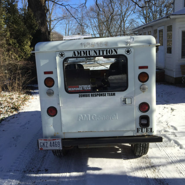 Old Postal Jeeps For Sale: 1983 AM General Jeep DJ5 Mail Delivery Posi Traction