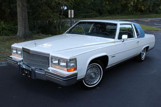 1983 Cadillac Fleetwood Brougham Coupe 59k miles WhiteBlue De
