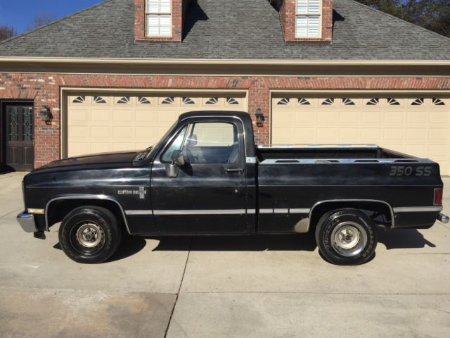 1983 BLACK Chevrolet C-10 SHORT BED with BLACK interior