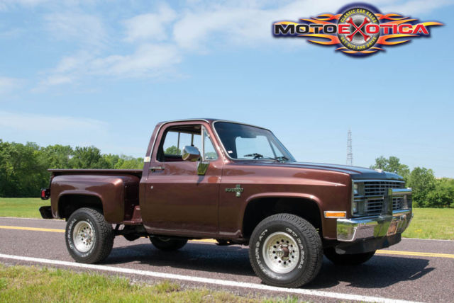 1983 chevrolet silverado k10 4x4 1 2 ton stepside pickup new paint interior for sale photos. Black Bedroom Furniture Sets. Home Design Ideas