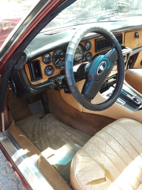 1983 Burgundy Jaguar XJ6 with Tan interior