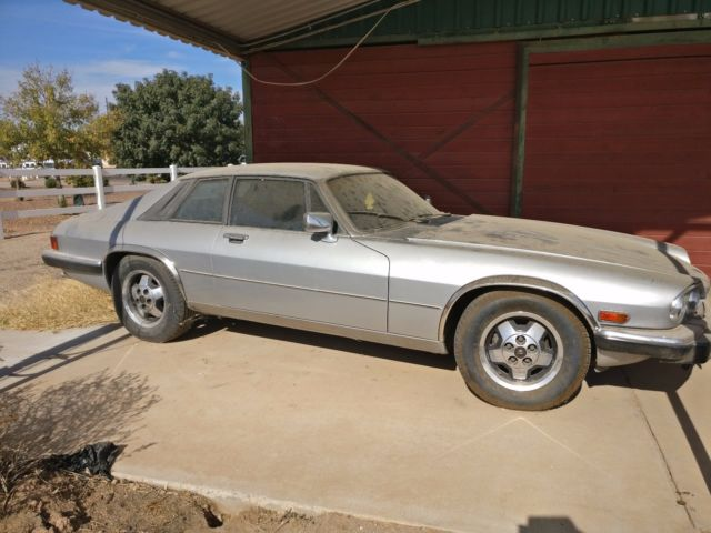 1983 Silver Jaguar XJS Coupe with Blue interior