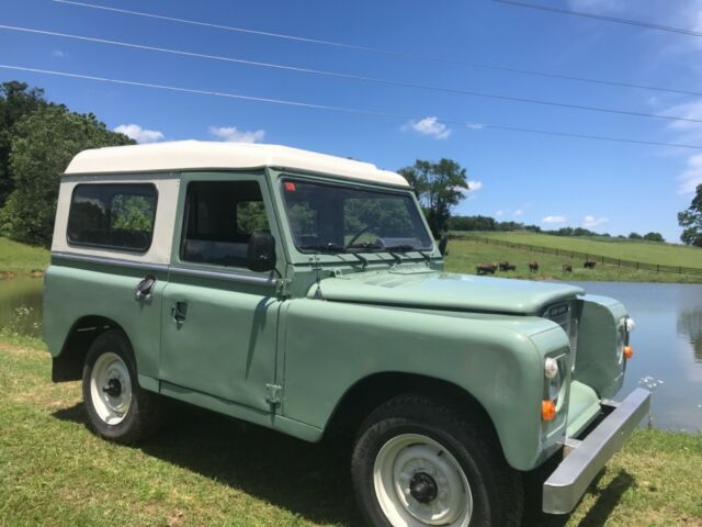 1983 Green Land Rover Defender Model 88 SUV with Black interior