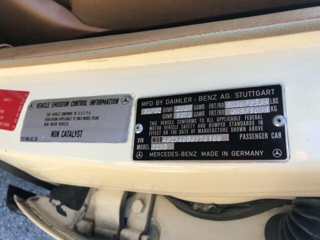 1983 MERCEDES BENZ 240D ALL ORIGINAL PAINT, MB TEX INTERIOR