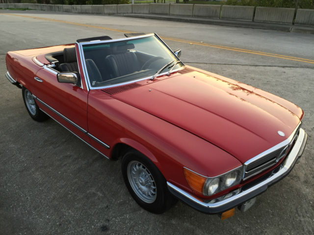 1980 Mercedes-Benz SL-Class 280SL in 568 Signal Red/EURO plaid int..STUNNING!