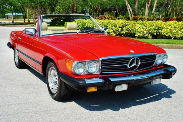 1983 Mercedes-Benz SL-Class 380SL Roadster 2-Tops Low Mileage Cold A/C