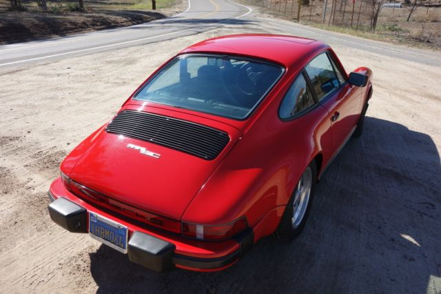 1983 Red Porsche 911 SC Coupe with Black interior