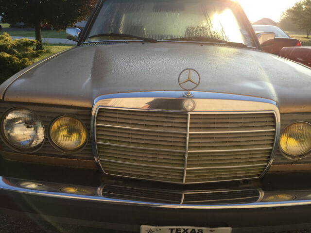 1984 Gold Mercedes-Benz 300-Series Sedan with Brown interior