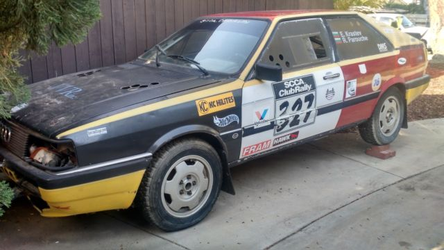 1984 Audi 1984 AUDI 4000 Coupe Quattro Rally race car UR replica PARTS ONLY