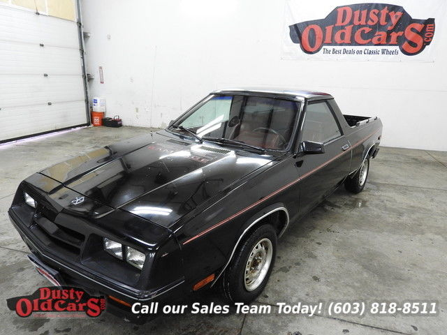 1984 Dodge Rampage Runs Drives Body Inter VGood 2.2L L4 Manual Shift