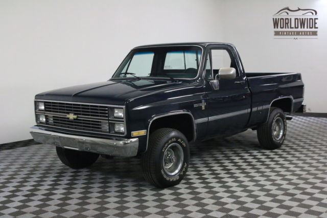1984 Chevrolet SCOTTSDALE SHORT BED 4X4 COLLECTOR GRADE V8 MANUAL