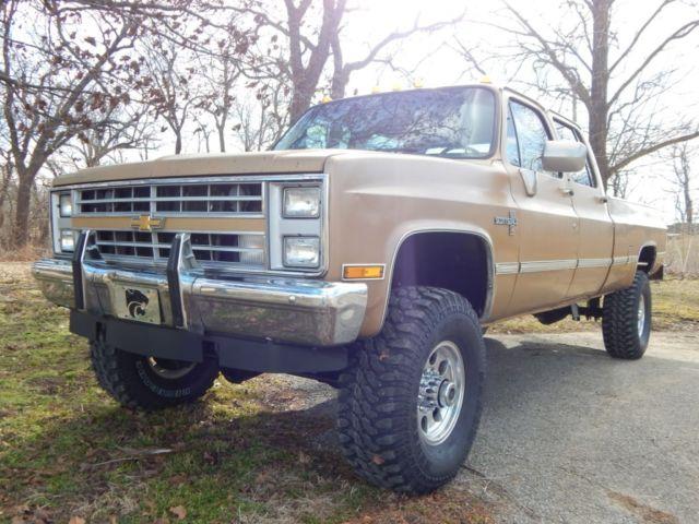 1984 Chevrolet K30 Crew Cab Scottsdale 454 Big Block Lifted Rust