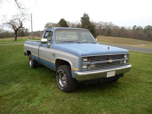 1984 chevrolet silverado 4 x 4 long bed pickup truck 4 wheel drive automatic k10 for sale. Black Bedroom Furniture Sets. Home Design Ideas