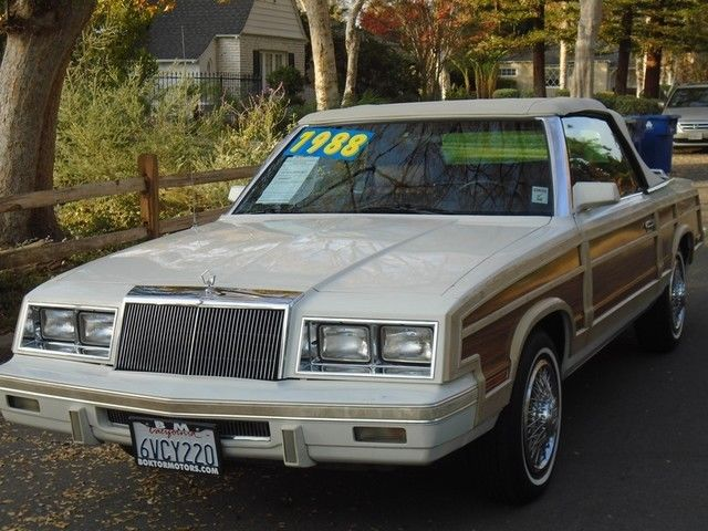 1984 Chrysler LeBaron Mark Cross