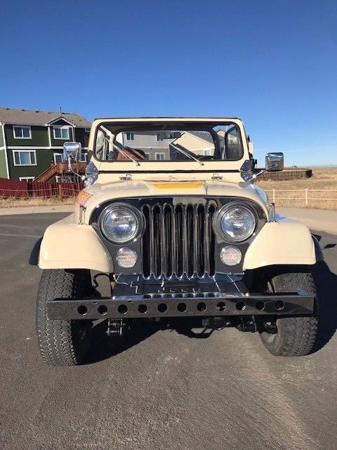 1984 beige Jeep CJ cj-7 Convertible with beige interior