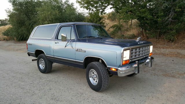 1984 Dodge Ramcharger Royal SE