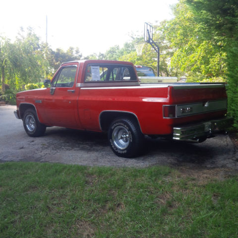 1984 gmc sierra classic 1500 red 350 v8 shortbed 2wd c15 for sale photos technical. Black Bedroom Furniture Sets. Home Design Ideas