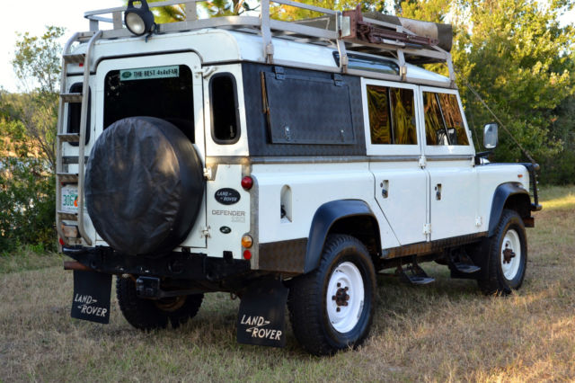 1984 land rover defender 110 v8 rebuilt 21 256 miles many accessories see video for sale. Black Bedroom Furniture Sets. Home Design Ideas