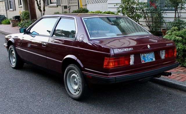 1984 Maserati Biturbo  ONE OWNER, 24K MILES, ALWAYS GARAGED