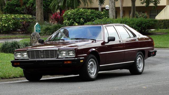1984 Maserati Quattroporte SEE FULL DESCRIPTION BELOW