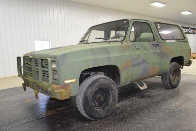 99cada1519 1984 Military Chevy Blazer Square Body Truck K5 D10 Diesel. NO RESERVE!!!