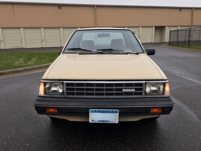 1984 Tan Nissan Sentra Coupe with Tan interior