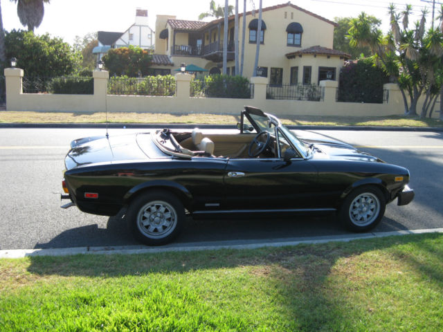 1984 pininfarina spider azzurra no reserve fiat spider 124 for sale photos technical. Black Bedroom Furniture Sets. Home Design Ideas