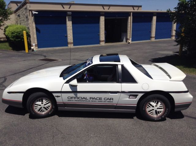 1984 Pontiac Fiero Certified Authentic Pace Car (1 of 2000)