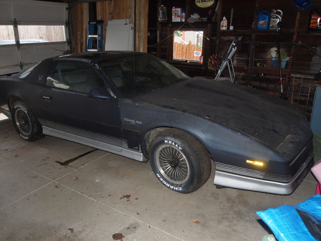 1984 pontiac firebird trans am for parts or project car chevy 327 engine t tops for sale photos technical specifications description topclassiccarsforsale com