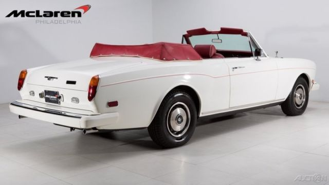 1984 White Rolls-Royce Corniche Convertible with Red interior