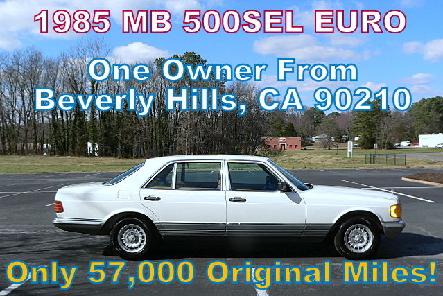 1985 Mercedes-Benz 500-Series SEL 500SEL EURO MODEL (W126 S CLASS)